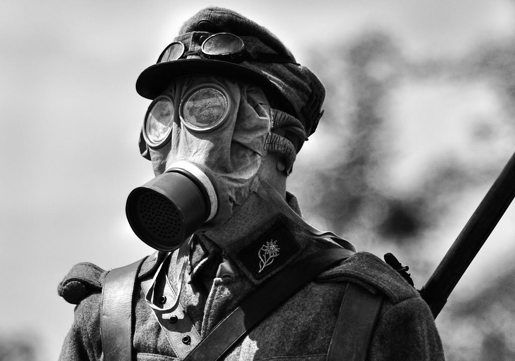 View Fullsize More Gas Mask Training Wwi Photos