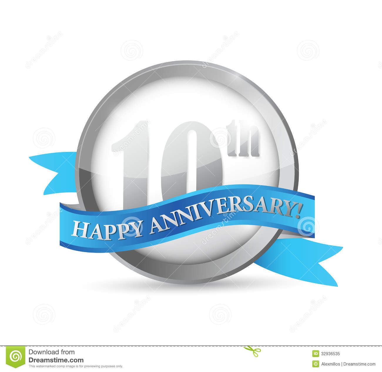 10th Anniversary Clip Art 10th Anniversary Seal And