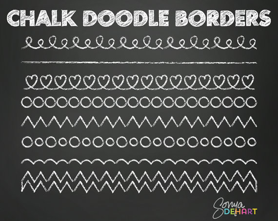 60  Off Clipart Chalk Doodle Borders Chalkboard Royalty Free Vector
