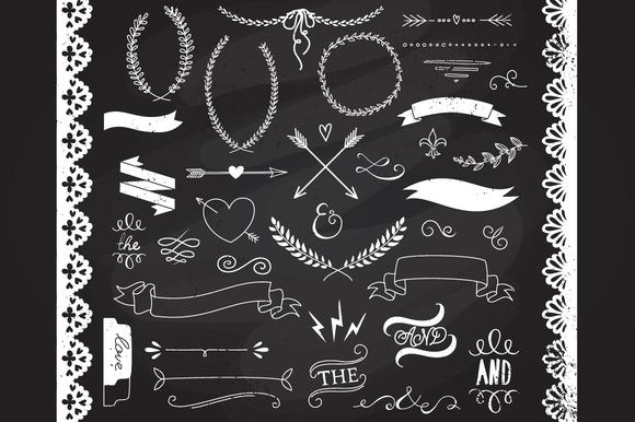 Clip Art Free Chalkboard Clipart chalkboard borders clipart kid laurels ribbons illustrations on creative market