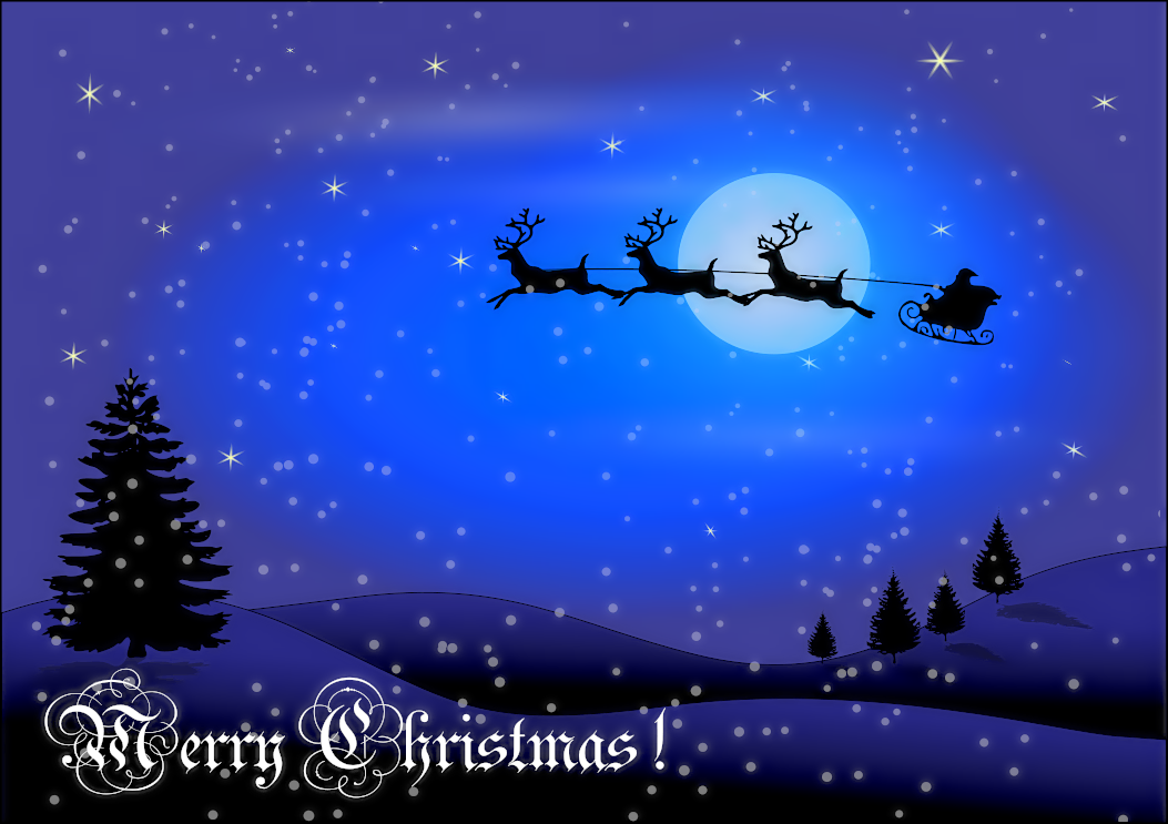 Christmas Card W Words   Http   Www Wpclipart Com Holiday Christmas