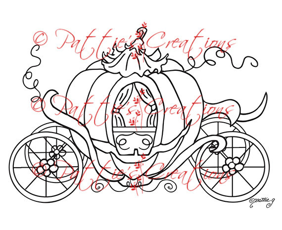 Cinderella Pumpkin Carriage Clipart Princess Pumpkin Coach