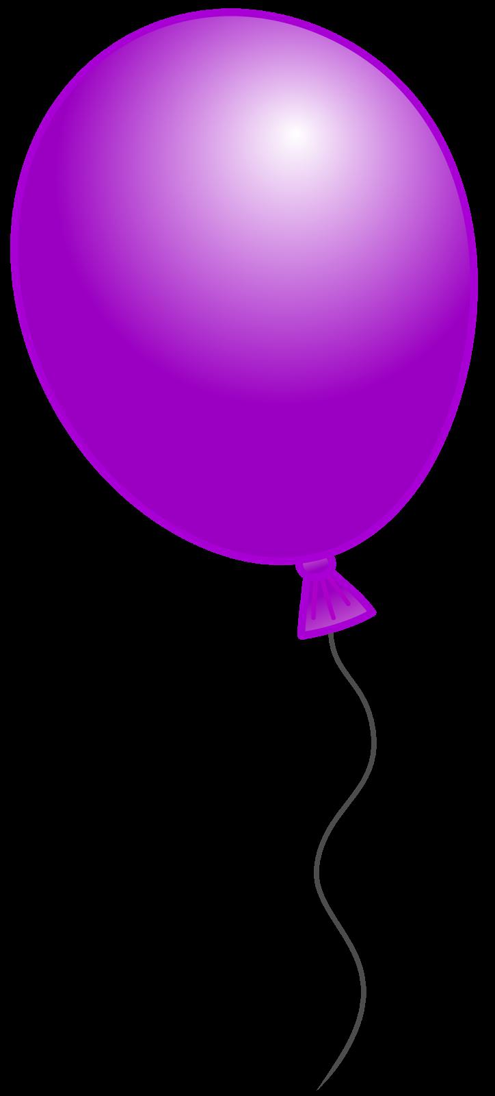 Purple Balloon Clipart - Clipart Suggest