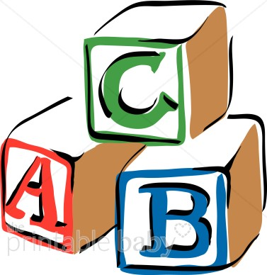 Colorful Abc Blocks Clipart   Baby Blocks Clipart