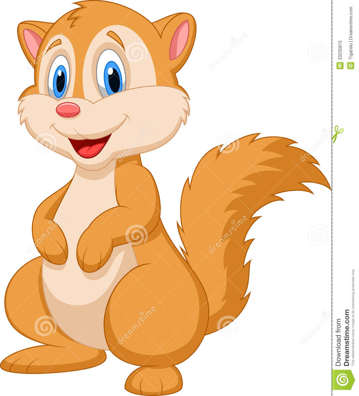 Cute Squirrel Cartoon Royalty Free Stock Photo   Image  33235815
