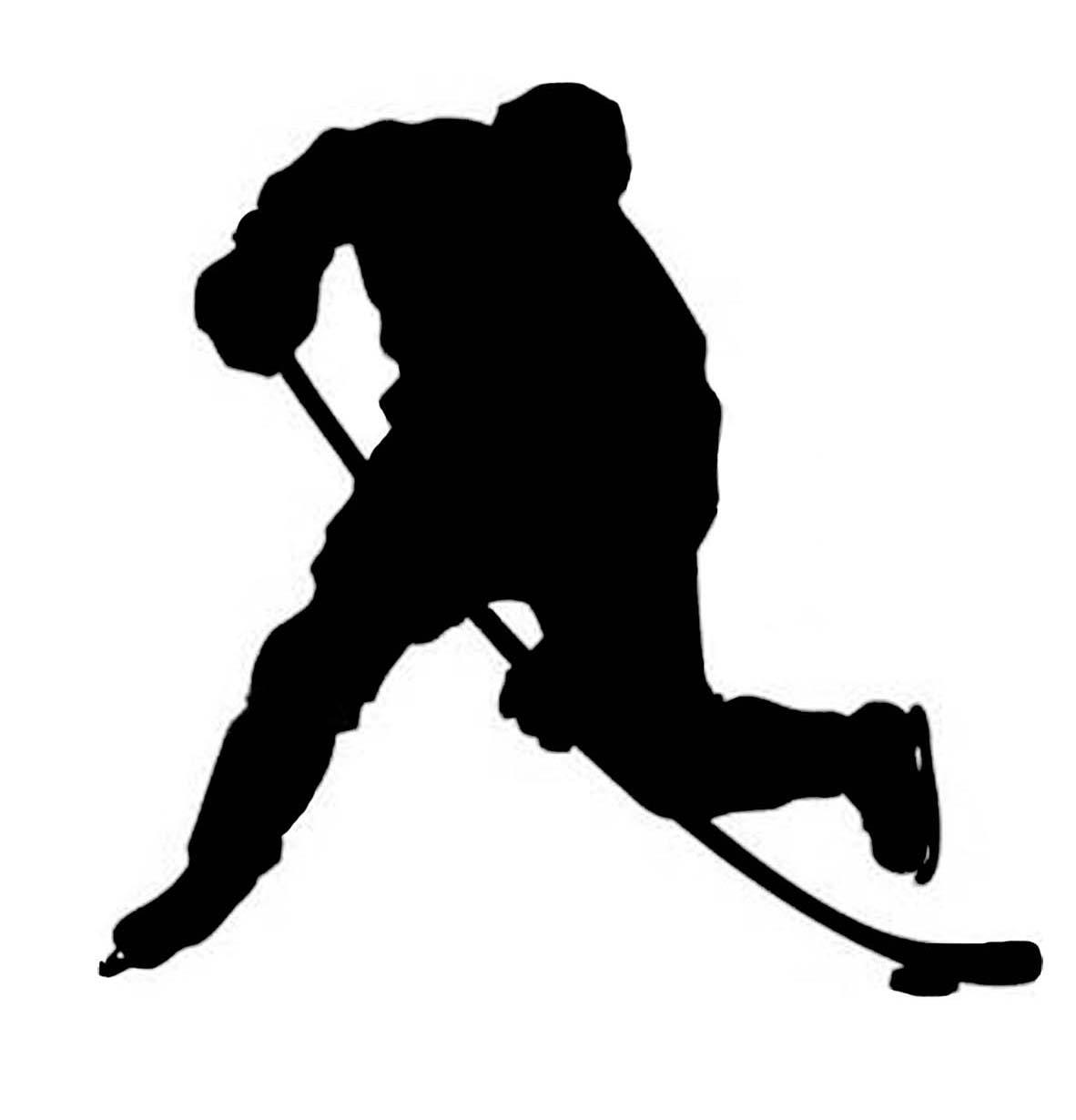 Hockey player shooting clipart