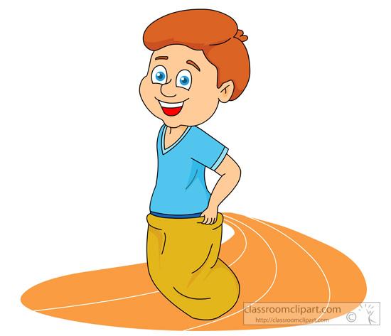 Sack Race Clipart - Clipart Kid