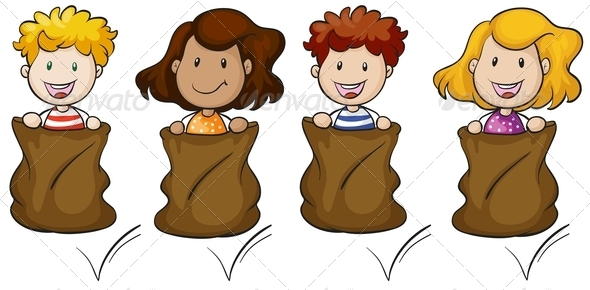 Black and white designs clipart clipart kid - Sack Race Clipart Clipart Suggest