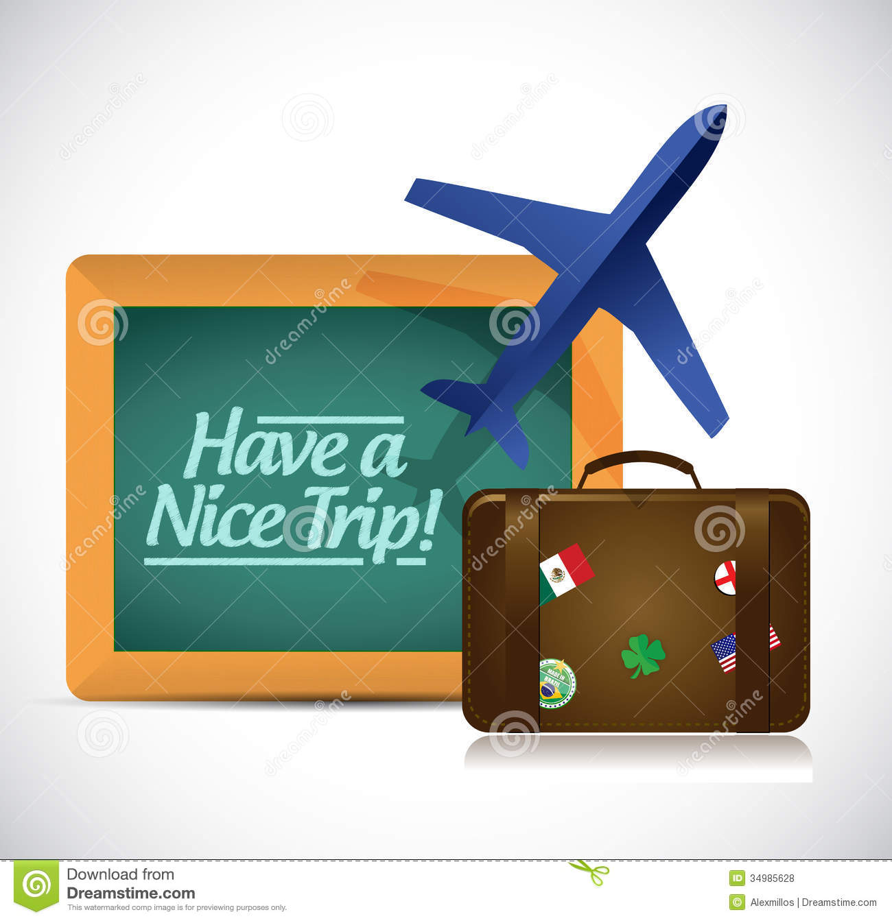 Have A Nice Trip Travel Concept Illustration Royalty Free Stock Photos