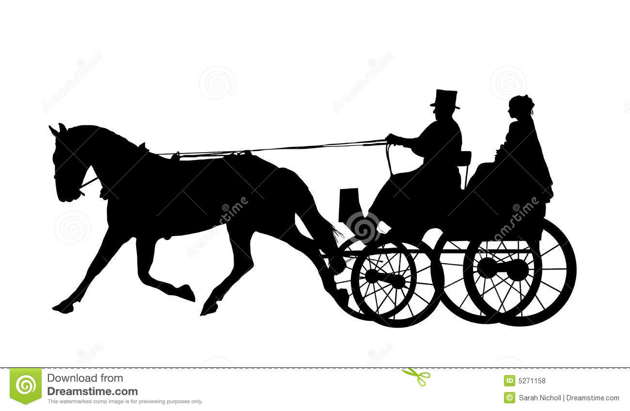 Horse Carriage Clipart Horse And Carriage Wedding 2