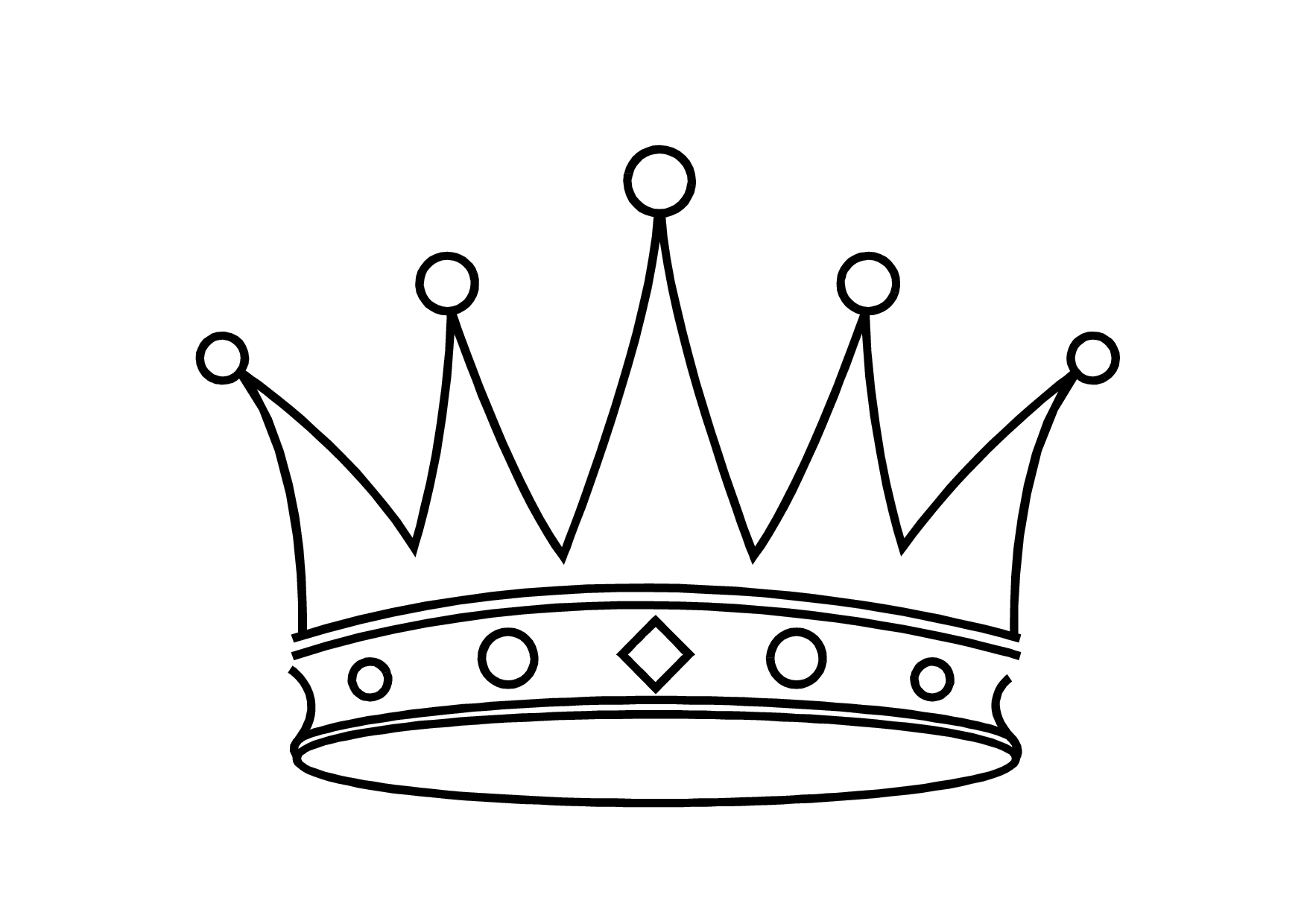 Crown black and white clipart - photo#33