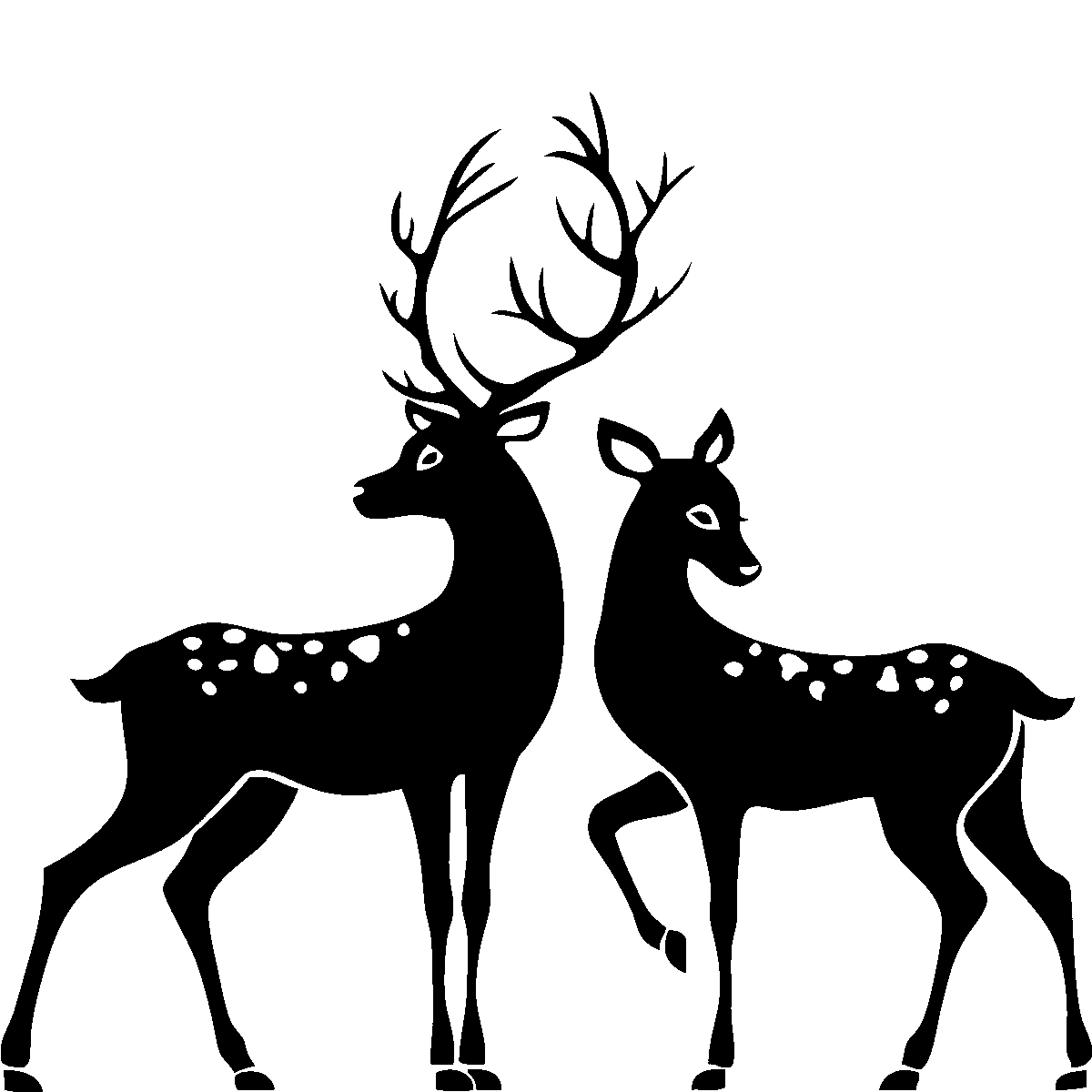 Pin Buck And Doe Silhouette Clip Art On Pinterest