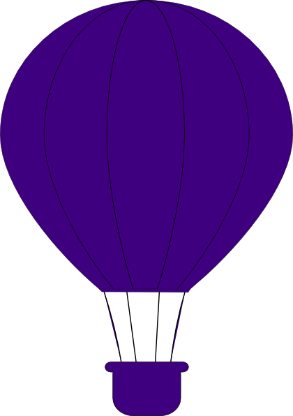 Purple Air Balloon Clip Art At Clker Com   Vector Clip Art Online