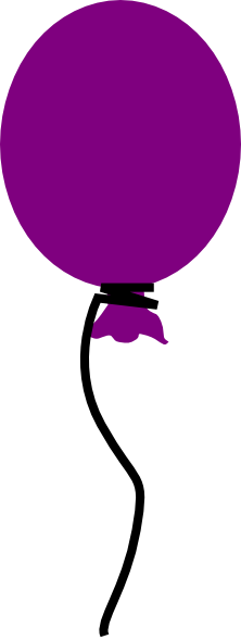 Purple Balloon Clip Art At Clker Com   Vector Clip Art Online Royalty