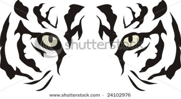 Stock Vector Tiger Eyes   Free Images At Clker Com   Vector Clip Art