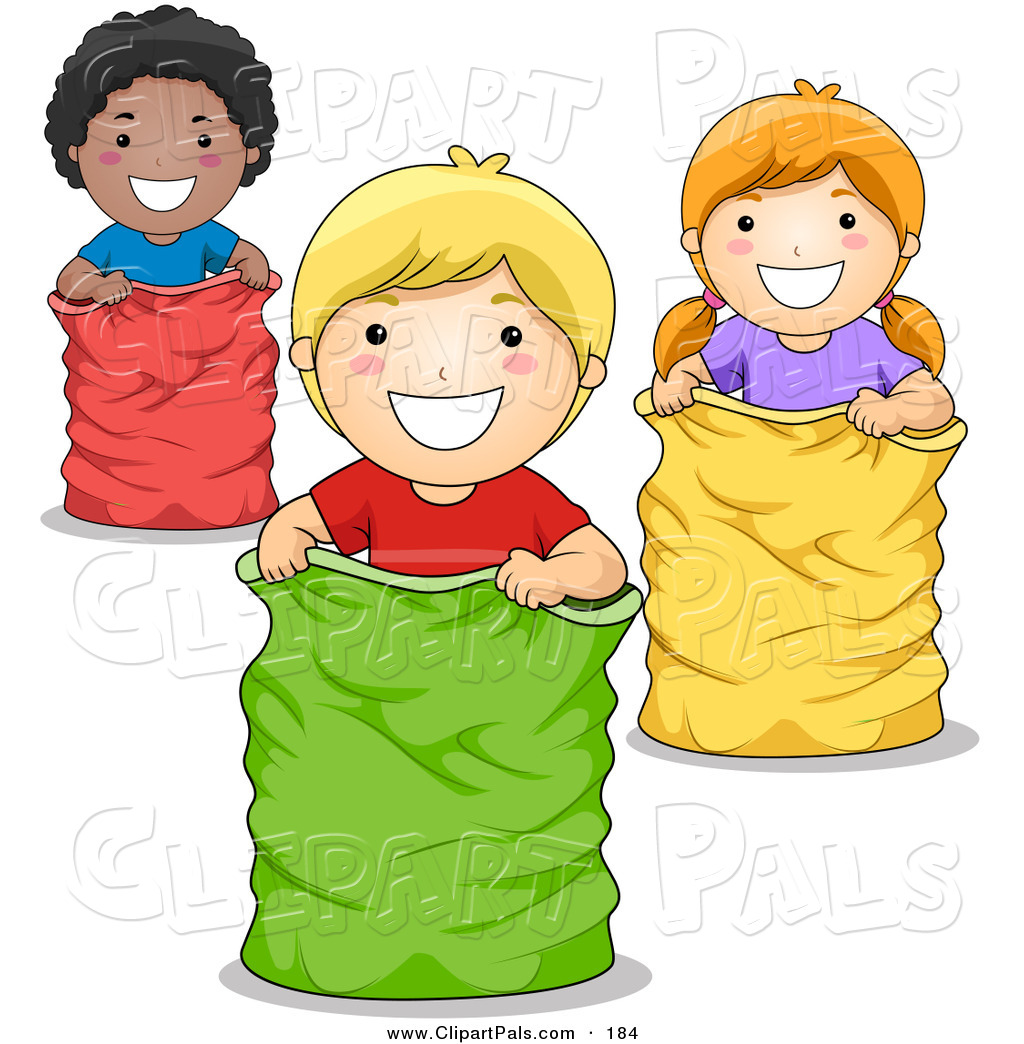 Sack Race Clipart - Clipart Kid