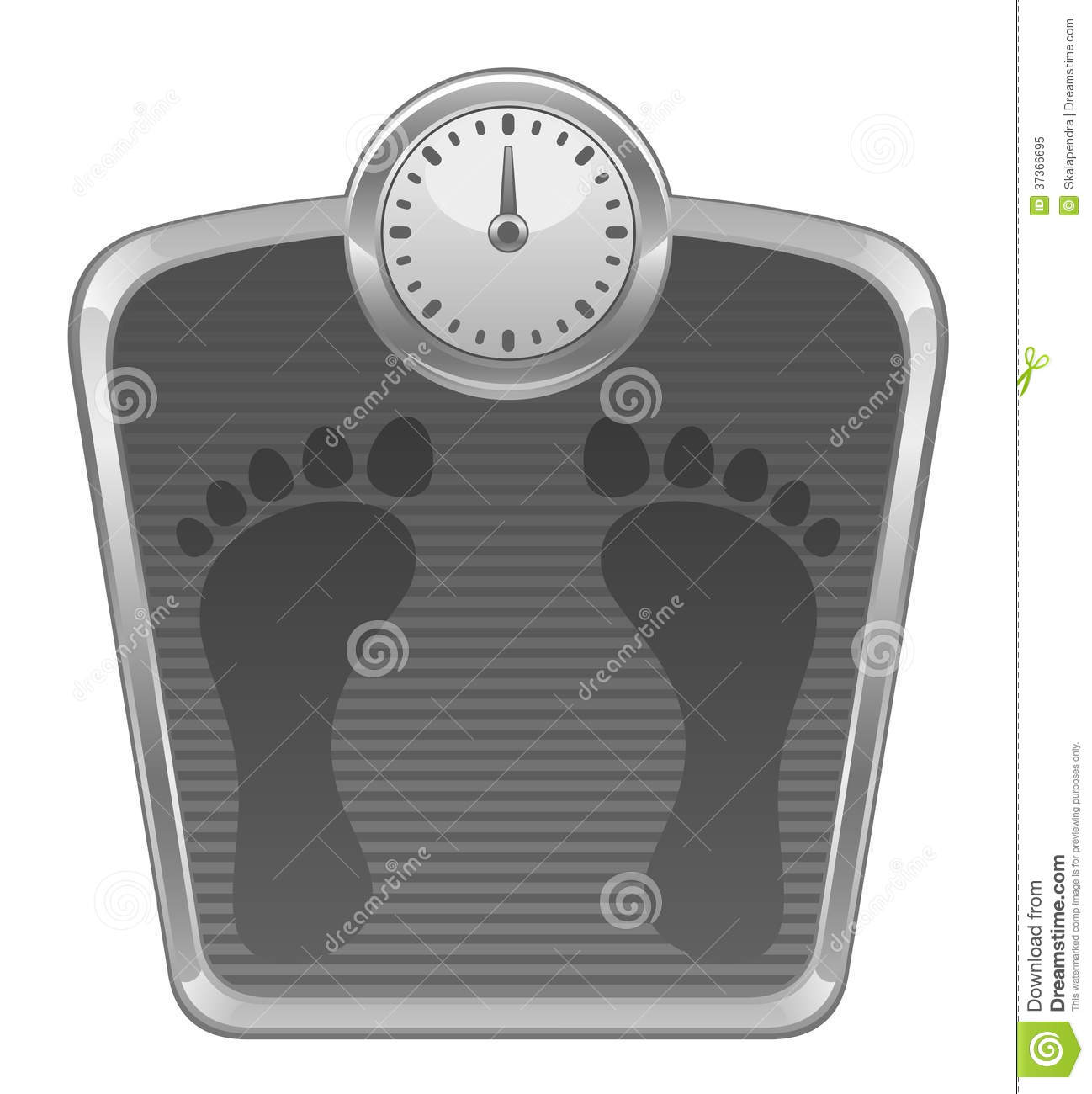 Bathroom Scales Royalty Free Stock Photo   Image  37366695