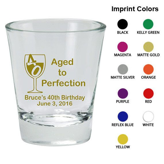 Birthday Shot Glass  Clipart 19091  40th With Wine Glass   Birthday F