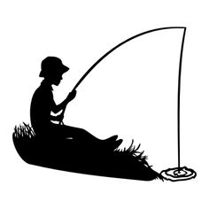 Boy Fishing Clipart   Boy Fishing Silhouette   Images By Heather M S