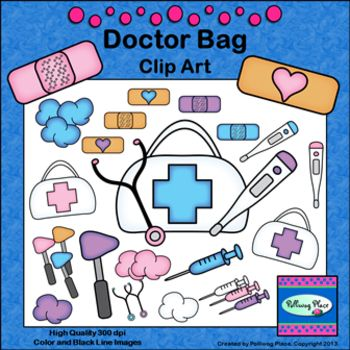 Doctor Bag Clip Art   First Aid Medical Supplies       Doctor Tools