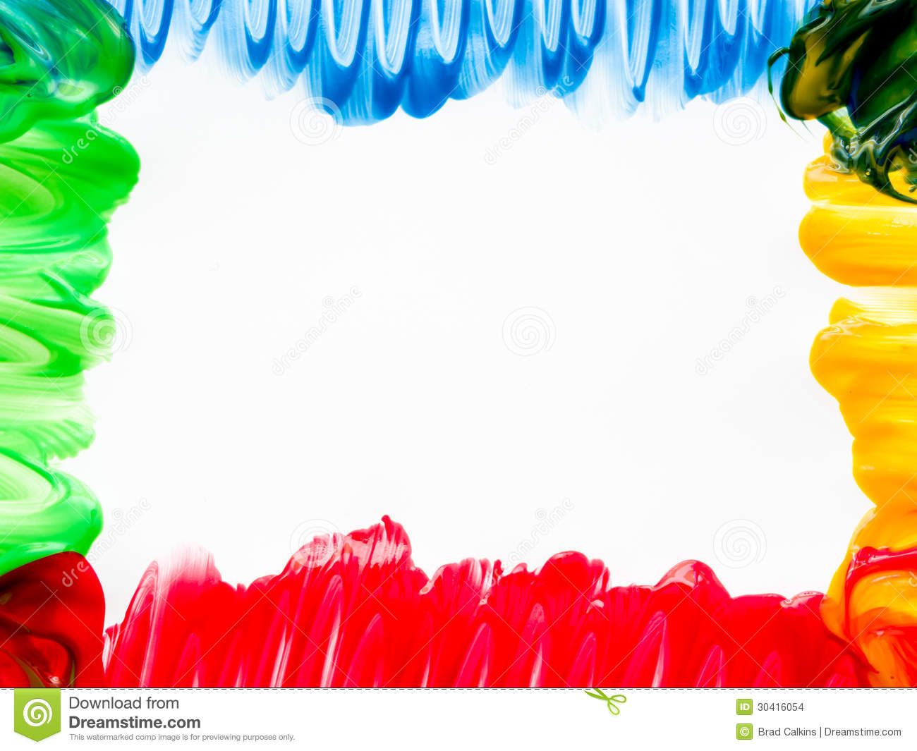 Finger Painting Frame Stock Images Image 30416054