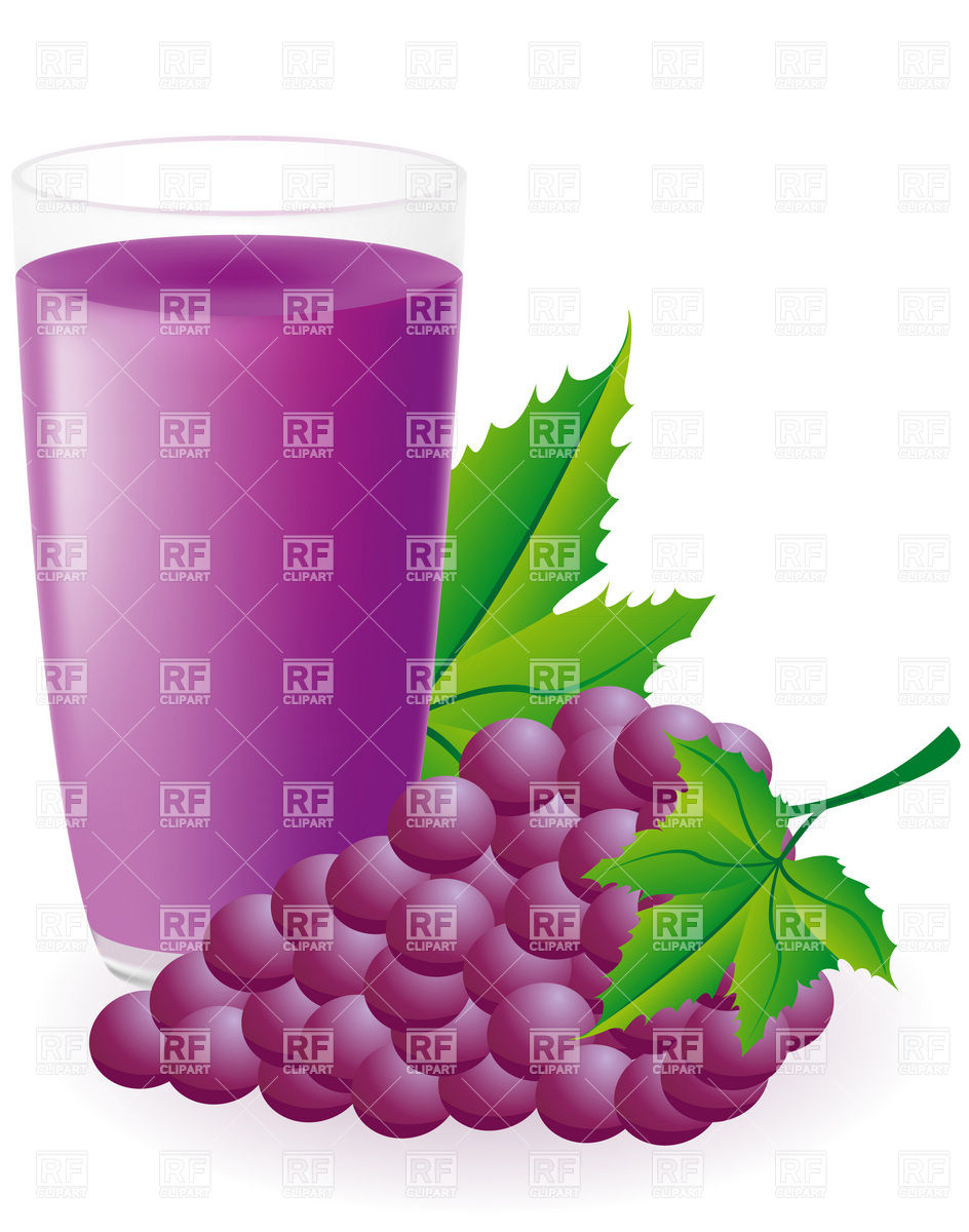 Grape Juice Clipart Glass Of Juice Bunch Of Blue Grapes Download