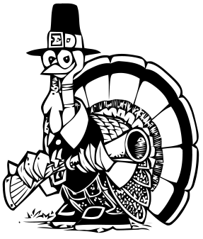 Hilarious Pilgrim Turkey With A Gun Clipart  Comical Turkey With A Big