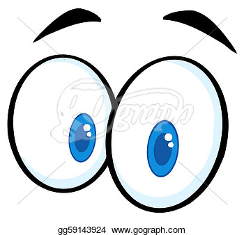 Illustration   Cartoon Funny Eyes  Vector Clipart Gg59143924   Gograph