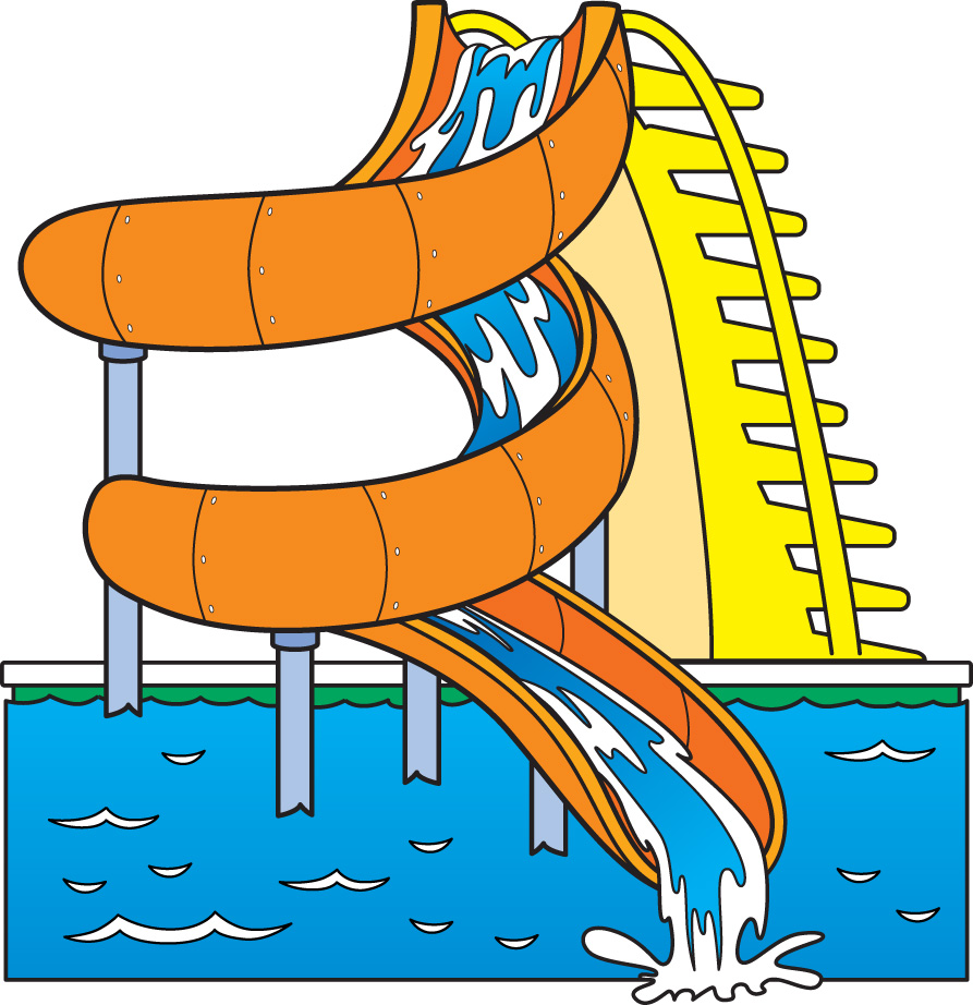 Images For   Water Slides Clip Art