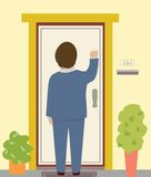 Knocking Door Stock Illustrations Vectors   Clipart    77 Stock
