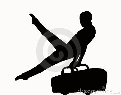 Male Gymnast Clipart Elephant Silhouette Royalty Free Stock Photos