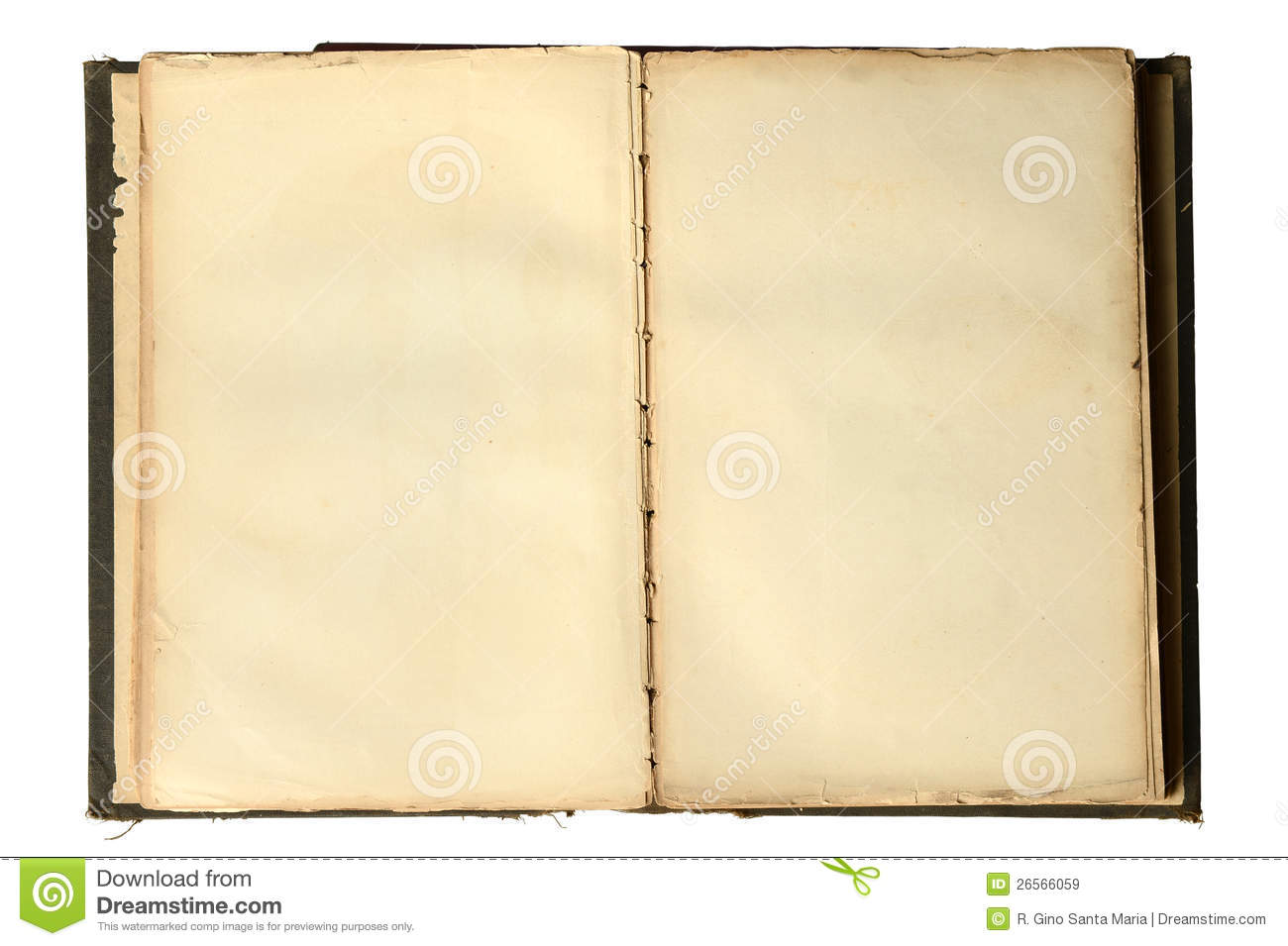 Open Vintage Book With Blank Pages Royalty Free Stock Images   Image