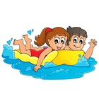 Water Park Clipart Cartoon Summer Water