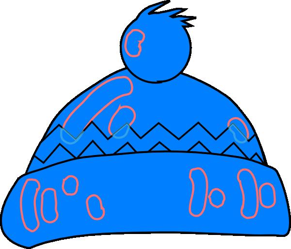 Winter Hat Blue Clip Art At Clker Com   Vector Clip Art Online