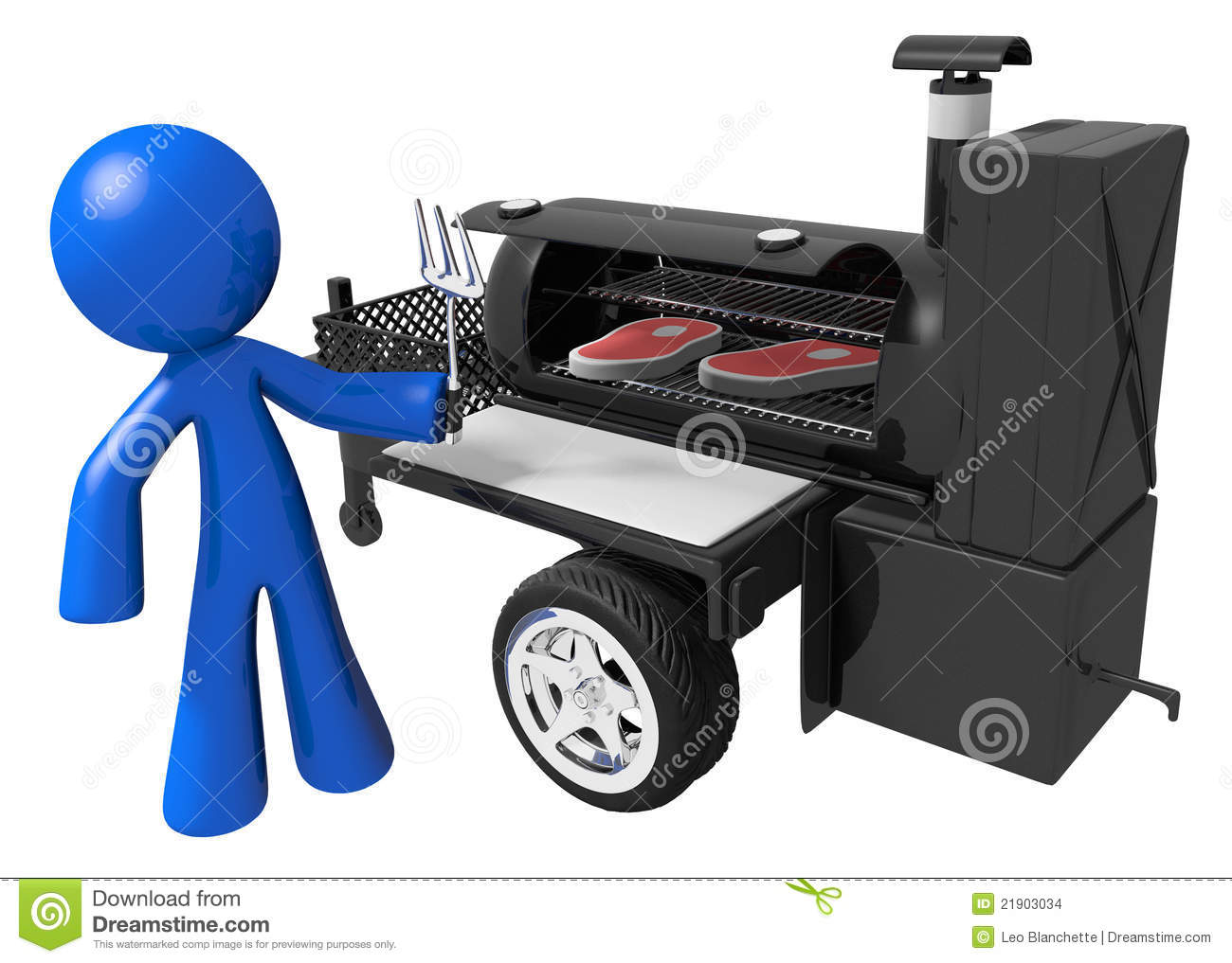 Bbq Smoker Clipart Bbq Smoker Mobile Grill And