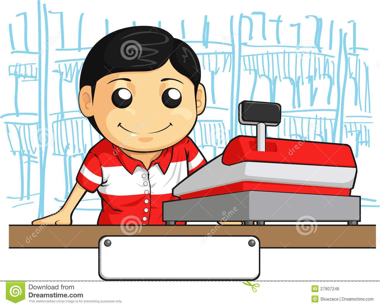 Cashier Cartoons: Clerk Clip Art