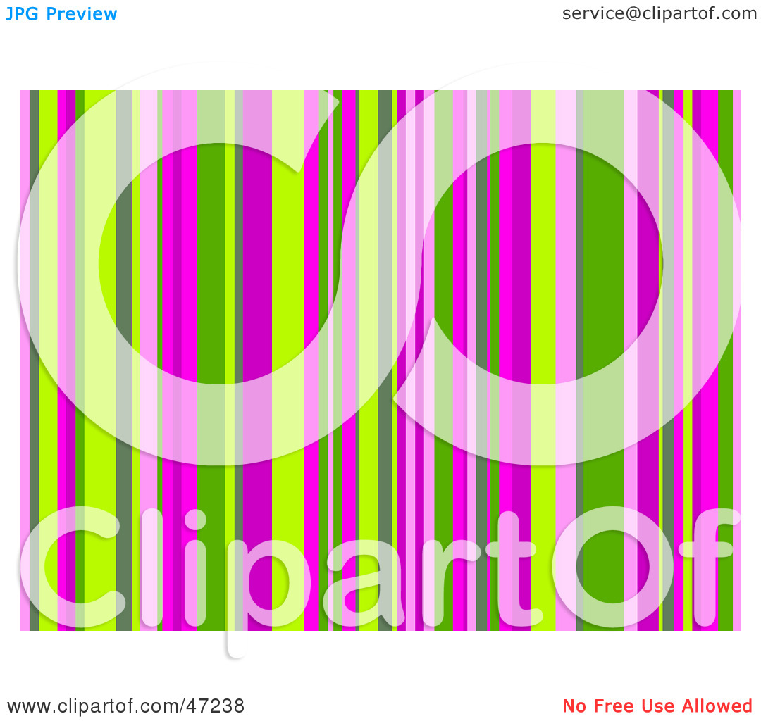 Clipart Illustration Of A Pink And Green Stripe Background By Prawny