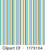 Clipart Of A Purple Green And Blue Stripes Pattern Background Royalty