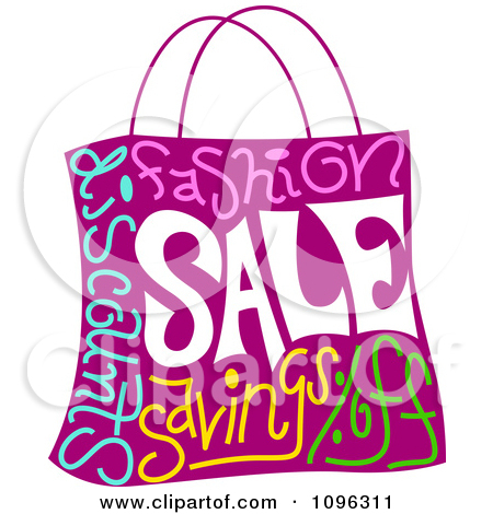 Clipart Purple Shopping Bag