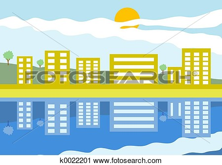 Clipart   Reflections  Fotosearch   Search Clip Art Illustration