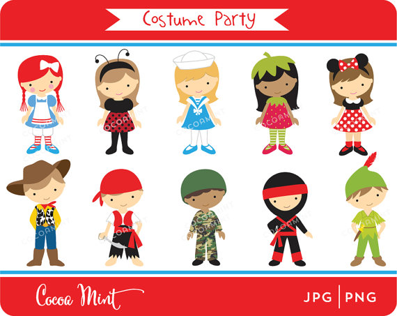 Costume Party Clipart - Clipart Kid