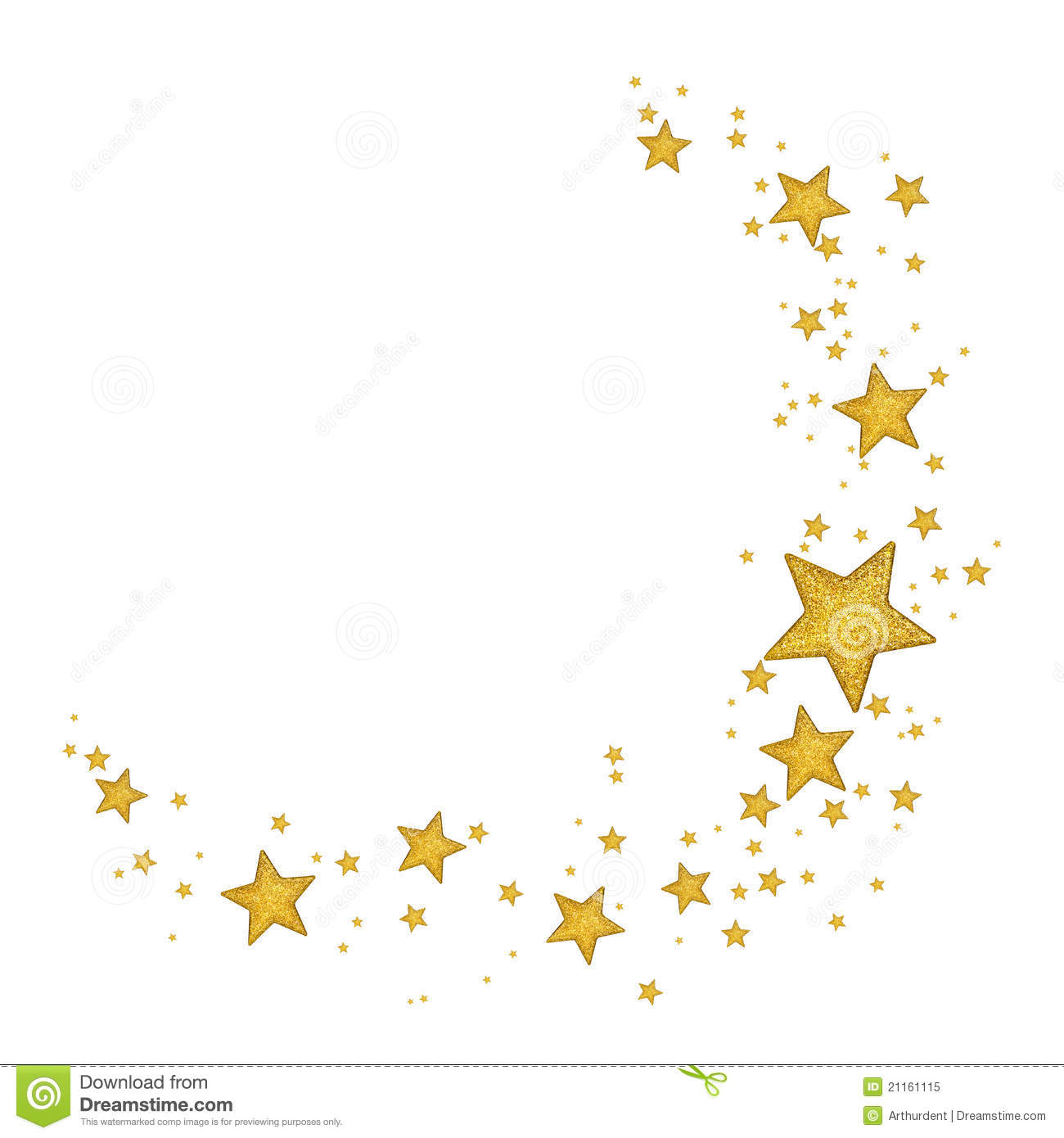 Golden Stars Royalty Free Stock Photo   Image  21161115