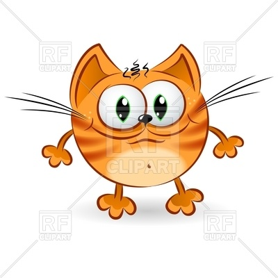 Happy Cartoon Ginger Cat Download Royalty Free Vector Clipart  Eps