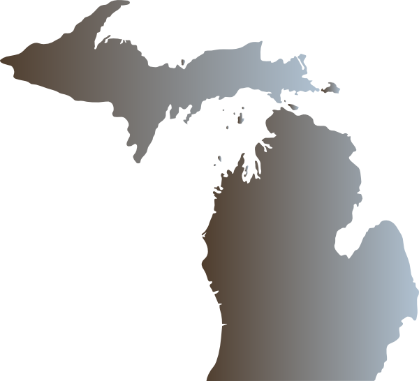 Michigan Outline With Great Lakes Clip Art At Clker Com   Vector Clip