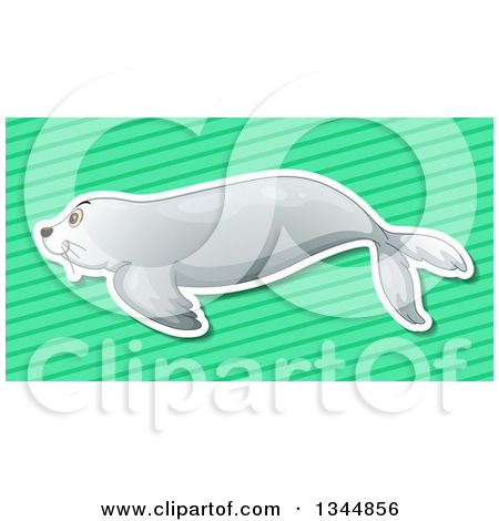 Of A Cute Sea Lion   Royalty Free Vector Clipart By Bnp Design Studio