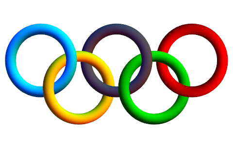 Olympic Rings Vector   Clipart Best