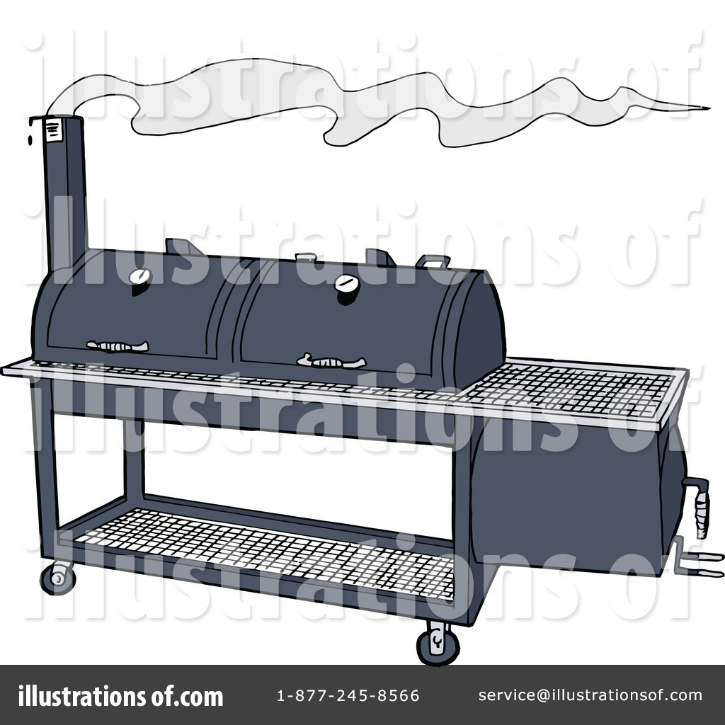 Royalty Free  Rf  Bbq Smoker Clipart Illustration By Lafftoon   Stock