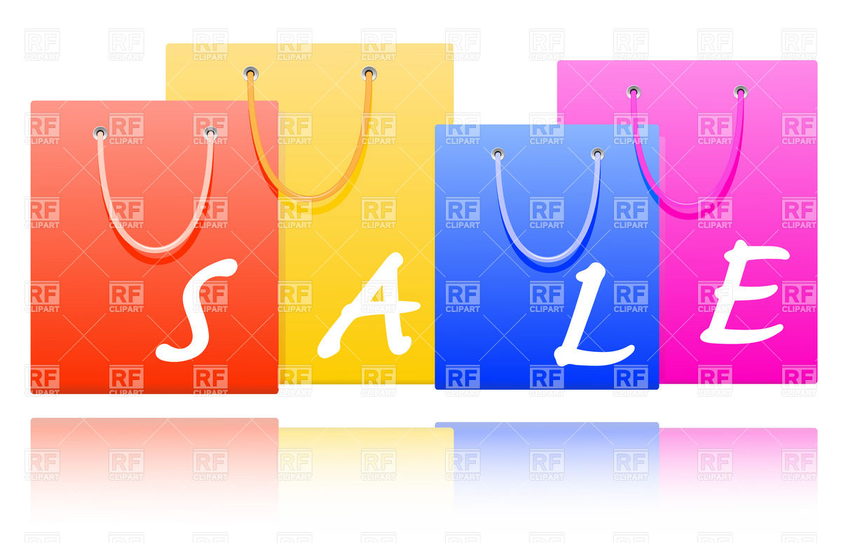 Sale Shopping Bags Download Royalty Free Vector Clipart  Eps