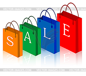 Sale Shopping Bags   Vector Clip Art