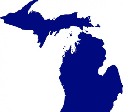 State Of Michigan Clip Art Free Vector 57 03kb